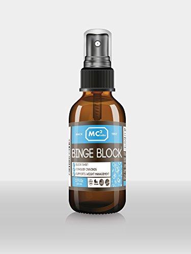 La frénésie de Bloc (à la Menthe) - Bloquer les Récepteurs Douceur - la Conquête Envies - 1 oz bouteille en verre - sans OGM - sans Gluten - Bio - Vegan