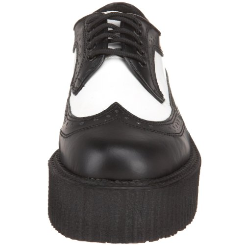 Demonia - Zapatos oxford hombre Blk-Wht Leather