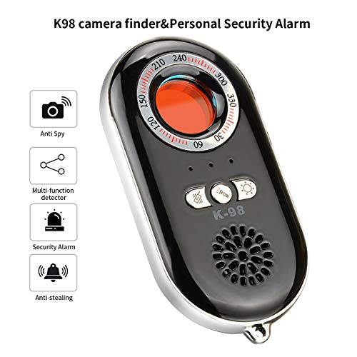 RXMAYDE Anti Spy Hidden Camera Detector RF Bug Detector Wireless Signal Scanner, Personal Security Alarm Security Motion Vibration Sensor for Travel, Home, Woman, Men, Girls