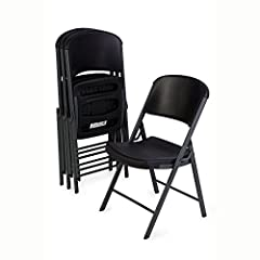 This classic commercial style Folding chair is made of high-impact polyethylene, contoured for comfort and designed for durability. The blow-molded seat and back (Black) and gray steel frame provides superior strength, and exceeds demanding B...