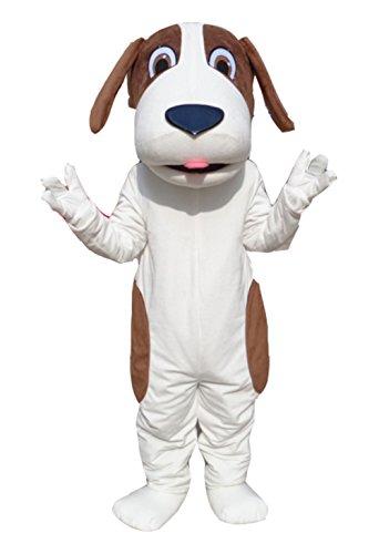 Dog Mascot Costume Bee Costume Adult Halloween Fancy Dress (Medium, White)