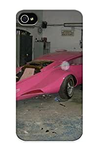 Gvkppg-6255-rlqesah Awesome Pink Panther Car Graphic Code Pink Panther Car Ment Pictures Flip Case With Fashion Design For Iphone 4/4s As New Year's Day's Gift