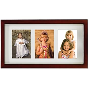 Amazon.com - Lawrence Frames Walnut Wood Triple 4 by 6 Matted ...