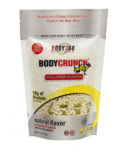 BodyCrunch Whey Protein Crunchies Cereal Supplement, Natural Unsweetened Flavor, Ultra Premium Quality Whey Protein Isolate/Concentrate Blend, 18G Of Protein & 4G Of Carbs, 17 Servings, Made In THE USA,  15.25 Ounce