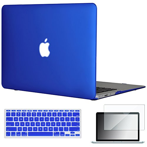 Hardshell Frosted Case - Easygoby 11-Inch 3 in 1 Rubberized Frosted Hardshell Case Cover for MacBook Air 11.6