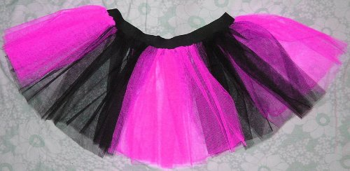 Uv Neon Hot Pink Tutu Skirt Petticoat Punk Rave Dance Fancy Dress Costume Party (Dark Dance Costumes)