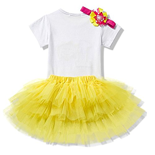 Suzzo Costume Series Baby Girl Is My 1St Birthday Casual Tops T Shirts Headband Sock Tutu Skirts Set