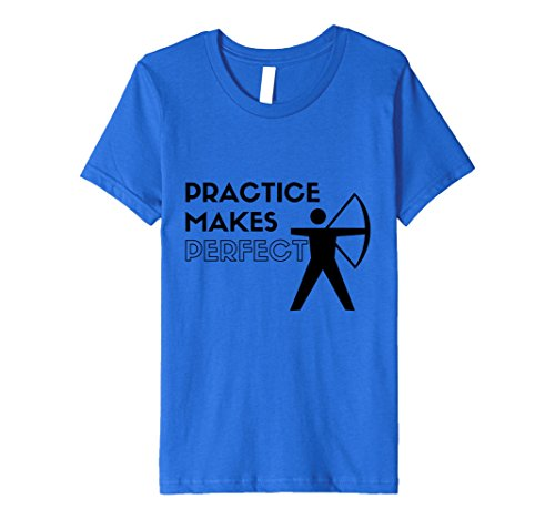 Price comparison product image Kids Practice Makes Perfect Cool Archery T-shirt 12 Royal Blue
