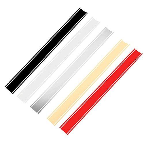 Alamor Decadencia Del Tanque De La Motocicleta Cowl Vinyl Stripe Pinstripe Decal Sticker Para Cafe Racer-Silver