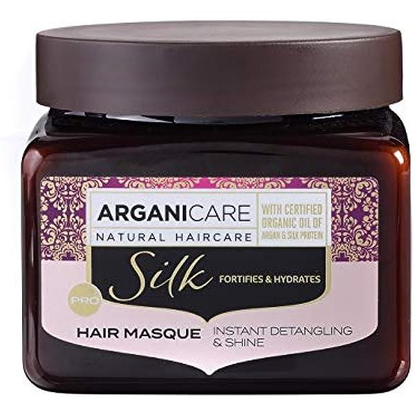 Arganicare - Mascarilla fortificante con proteína de seda, 500 ...
