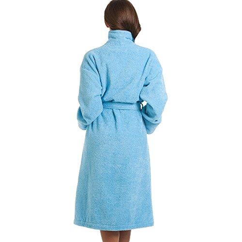 Camille Lujo Azul 100% Algodón Toalla de baño Toalla Azul