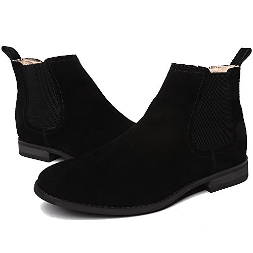 Slip Suede Original On Classic Chelsea Boots OUOUVALLEY OUOUVALLEY Boots Original Suede Classic Slip Black Chelsea On n7x1WCzqw