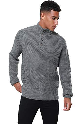 TALLA Tamaño-XL-Pecho 114,30 cm-119,38 cm. Hombres Threadbare Texturado 1/4 Zip Cuello Saltador Suéter Parte superior Pull-over Suave HALTON