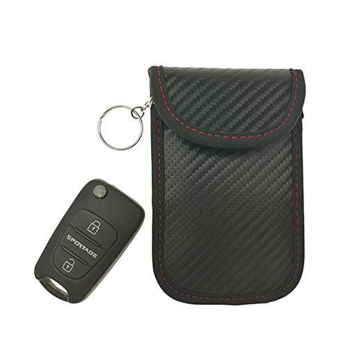 2 pack Car Key Bag Car Fob Signal Blocking Bag Shielding Pouch Wallet Case for Privacy Protection