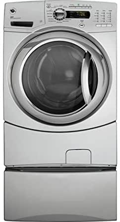 GE: GFWS3500L 27'' Front-Load Steam Washer with 4.9 IEC cu. ft. Capacity, Steam Refresh/Steam Assist, eWash Option, Internal Water Heater, Speed Wash and CEE Tier III Energy Star Compliant