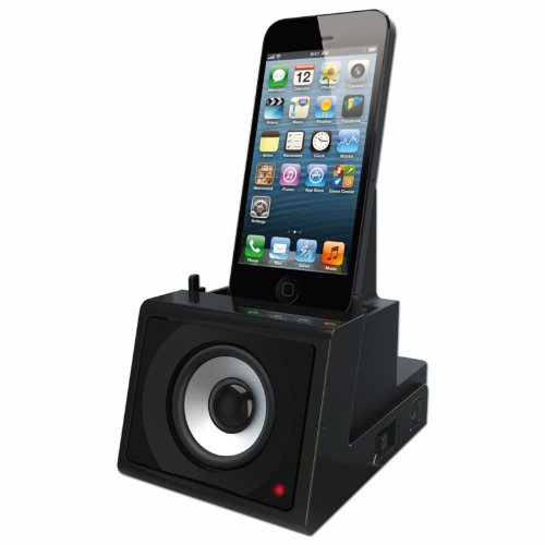 DOK CR10 Speaker Cradle with Rechargeable Battery, Retail Packaging, Black