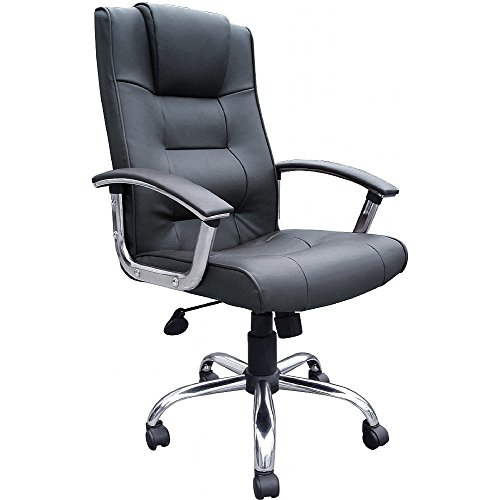 Melbourne High Back Black Leather Faced Executive Office Chair