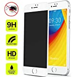iPhone 8 7 Anti Spy Screen Protector Tempered Glass, Benks Privacy Protective Film with Unbreakable Soft Frame and 0.23mm 3D Curve Edge Full Coverage (White for Apple iPhone8 iPhone7, 4.7-Inch)