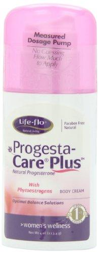 Crème Corps vie Flo Progesta-Care Plus progestérone naturelle, Solutions ménopause, avec phytoestrogènes, 4 oz (113 g)