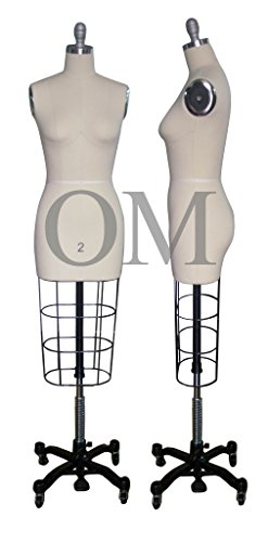 only mannequins Female Professional Fashion Dressmaker Dress Form Size 2