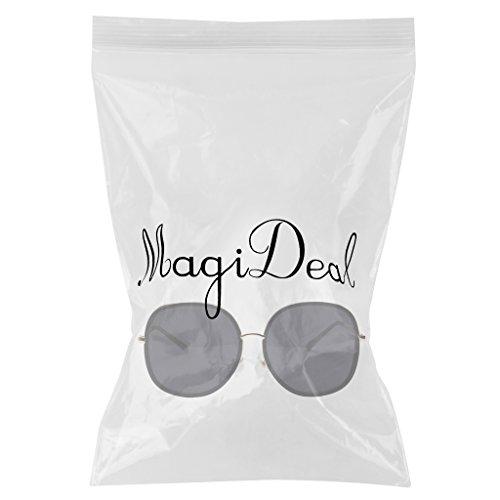 Femme MagiDeal Soleil Noir Grande Rétro en Métal Vintage Homme Cadre Rondes Taille De à Lunettes EUqw6xrUX
