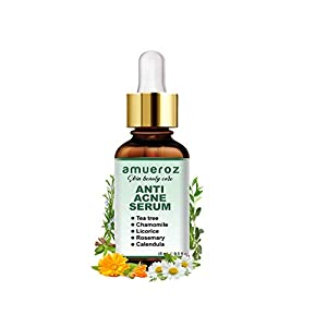 Amueroz Anti Acne serum and Pimple/Acne prone removal serum | Clears scar & Dark Spots |Tea Tree – 15 ml