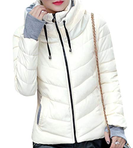 8 Zipper Stand Women Thickening Quilted Collar Jacket up Howme I8fwOq