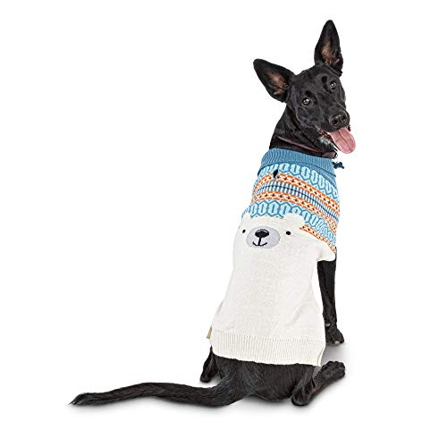 Bond & Co. Fair Isle and Intarsia Polar Bear Dog Sweater, Large