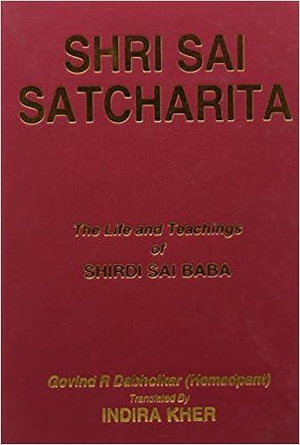 Buy Shri Sai Satcharita: The Life and Teachings of Shirdi