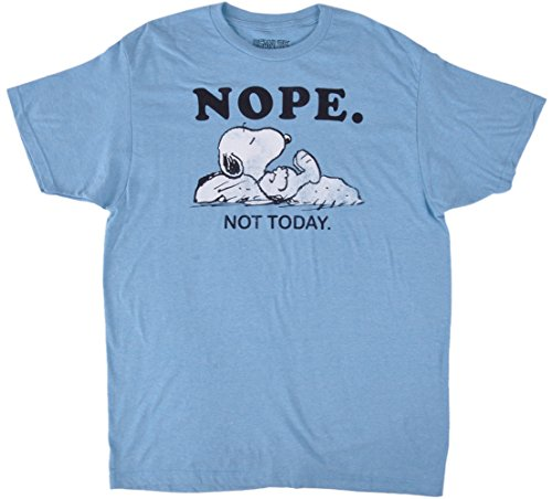 Adults Snoopy Heathered Tee (Blue, X-Large)