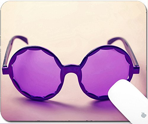 Luxlady Gaming Mousepad 9.25in X 7.25in IMAGE: 34009416 Funky purple sixties hippy sunglasses with shadows - Sunglasses Brand Funk
