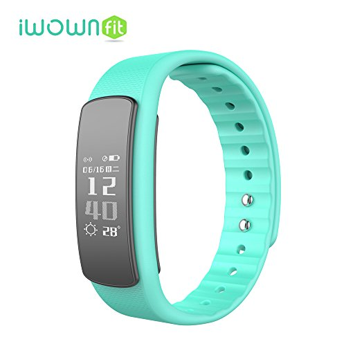 Fitness Tracker Heart Rate Monitor, iWOWNFit I6 HR Smart Bracelet Bluetooth Sport Smartband Wristband For Android IOS (Green)