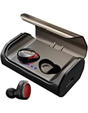 HolyHigh Bluetooth Headphones True Bluetooth 5.0 3000mAh Charging Case Wireless Earphones In Ear Mini Stereo Sound CVC8.0 Wireless Earbuds IPX5 Waterproof Sweatproof with Mic for Android …