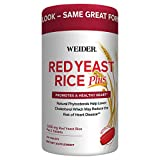 Weider Red Yeast Rice Plus 2-Pack with Phytosterols 1200 mg per 2 Tablets
