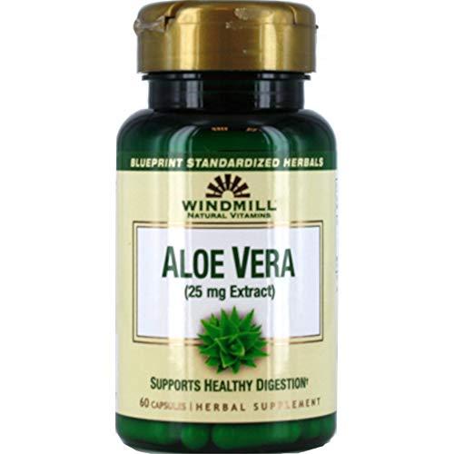 - Windmill Natural Vitamins Aloe Vera (25mg Extract) 60 Capsules (Pack of 3)