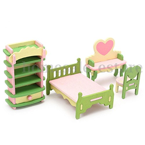 Retro Doll House Miniature Master Room Wooden Furniture Set Kid Pretend Play Toy (Children's Outdoor Wooden Furniture Australia)