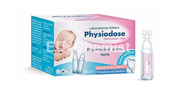 Gilbert Physiodose Sterile Physiological Serum 40 Single Doses For Baby Health