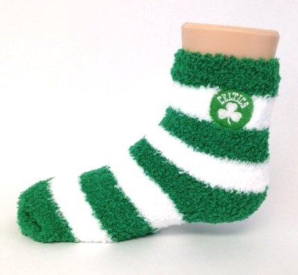 Boston Celtics Fuzzy Socks for Kids - White Boston Celtics Socks