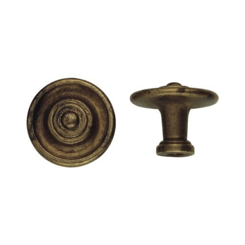 Bosetti Marella 100477 Vintage 1 Inch Diameter Mushroom Cabinet Knob, Old Iron