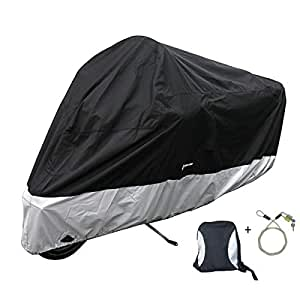 Amazon.com: PREMIUM Heavy Duty Cover (XXL) de moto con cable ...
