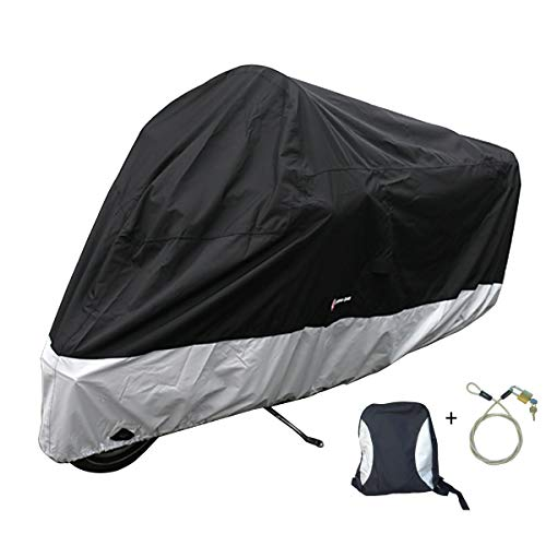 (Formosa Covers Premium Heavy Duty Motorcycle Cover (XXL) with Cable & Lock. Fits up to 108