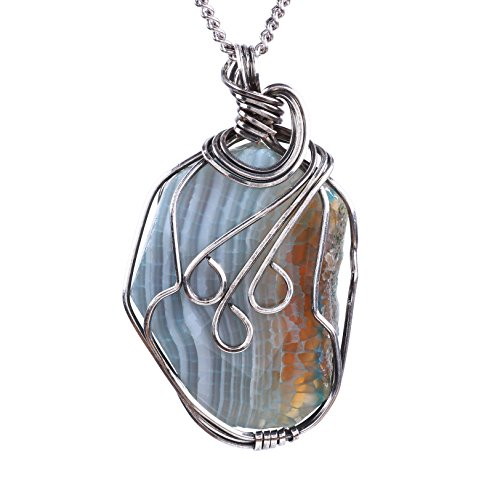 Silver Wrapped Pendant - 8