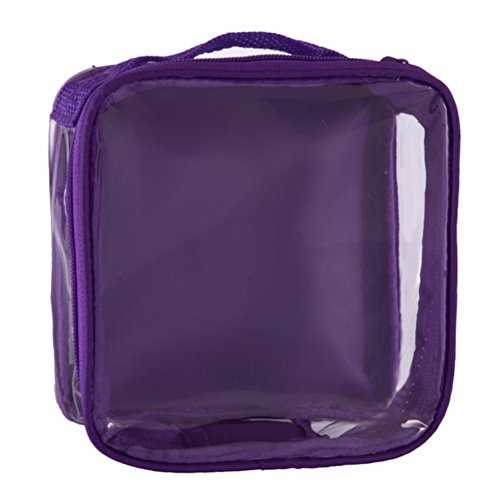 Price comparison product image Clear TSA Approved 3-1-1 Travel Toiletry Bag / Transparent See Through Organizer (Purple)