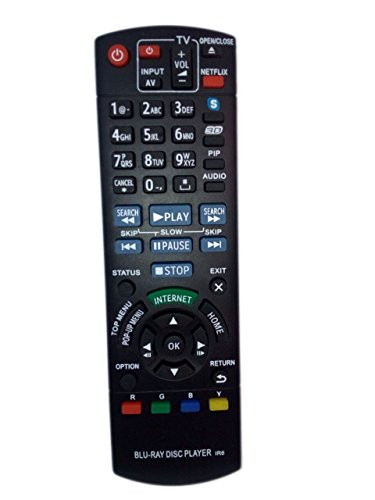 N2QAYB000719 Remote Control Replaced for Panasonic DMP-BD...