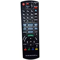 N2QAYB000719 Remote Control Replaced for Panasonic DMP-BDT220 DMPBBT01 DMP-BDT220CP DMPBDT220P BD Blu-Ray DVD Player