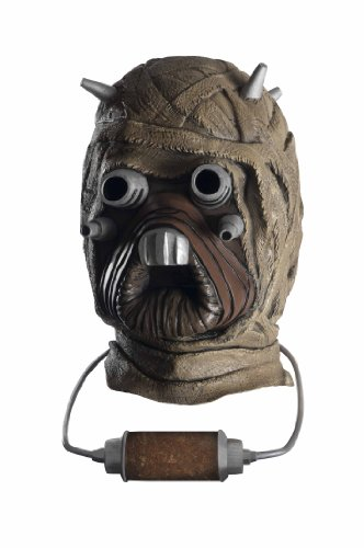 Jawa Costume Amazon (Star Wars Tusken Raider Deluxe Overhead Latex Mask, Brown, One Size)