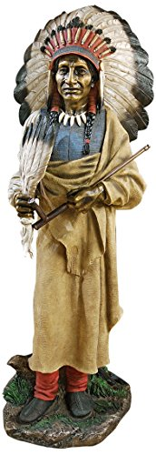 Design Toscano Native American Indian Spirit Chief Statue