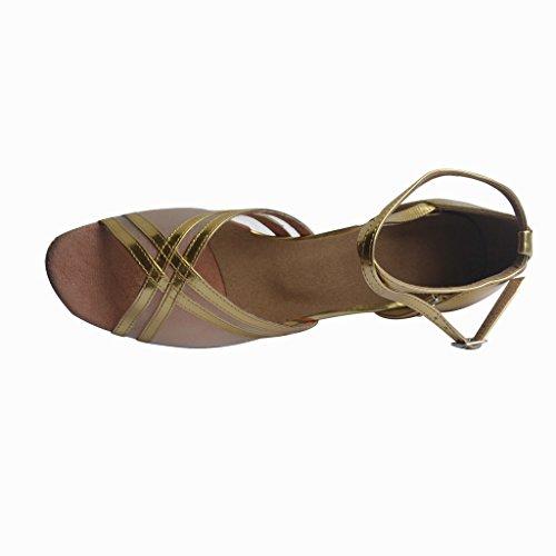 Jig Foo Sandals Open-toe Latin Salsa Tango Ballroom Dance Shoes for Women with 3