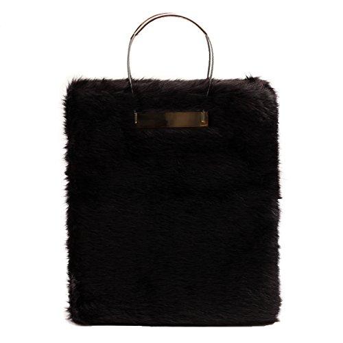 Taille Noir Pour Sac Main À L Zarapack Fox Femme Bag Without nYwXtHnq