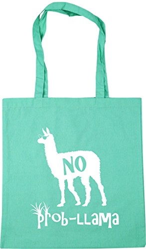 litres 42cm HippoWarehouse No Llama Mint Shopping Beach Prob x38cm Tote Gym Bag 10 8f6pTw